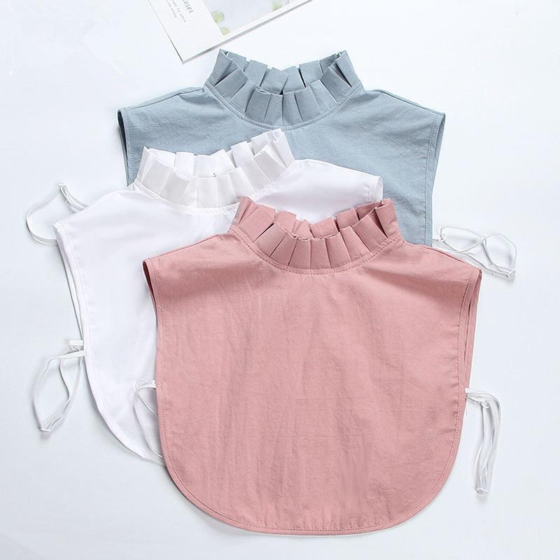 White   Shirt   Fake Collar Women False Collar   Blouse     Shirt   Female Casual Ladies Tops Streetwear Fake False Collar Q1148