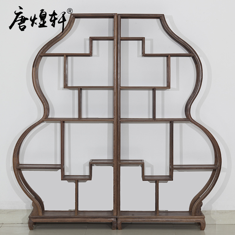 Tang Huangxuan Rosewood Chicken Wing Wood Gourd Shelf Wood Curio Shelves Shelf Rack Antique Teapot