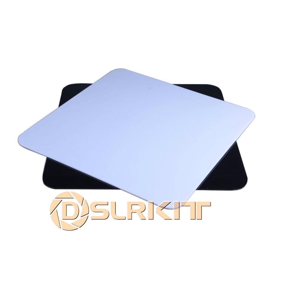 2pcs White Black Photo Acrylic Studio Reflection Board Display 30x30cm(12x12)