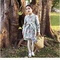 Пальто Девушки Мода Весте Fille Enfant Froral Gils Пальто Бутик Девушки Верхняя Одежда Высокого Качества Девушки Плащ