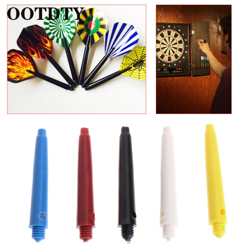 OOTDTY 12Pcs Plastic Nylon Screw Dart Shafts Short Darts Stems Replacement 4cm 2BA Rod  Dart Shaft