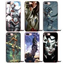 For iPhone X 4 4S 5 5S 5C SE 6 6S 7 8 Plus Samsung Galaxy J1 J3 J5 J7 A3 A5 2016 2017 Androids digital art fantasy Gynoid Case(China)