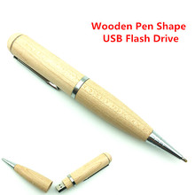 High Speed Wooden Pen USB Flash Drive External storage USB 3.0 Flash Memory Stick Gift PenDrive 64GB 32GB 16GB 8GB 4GB
