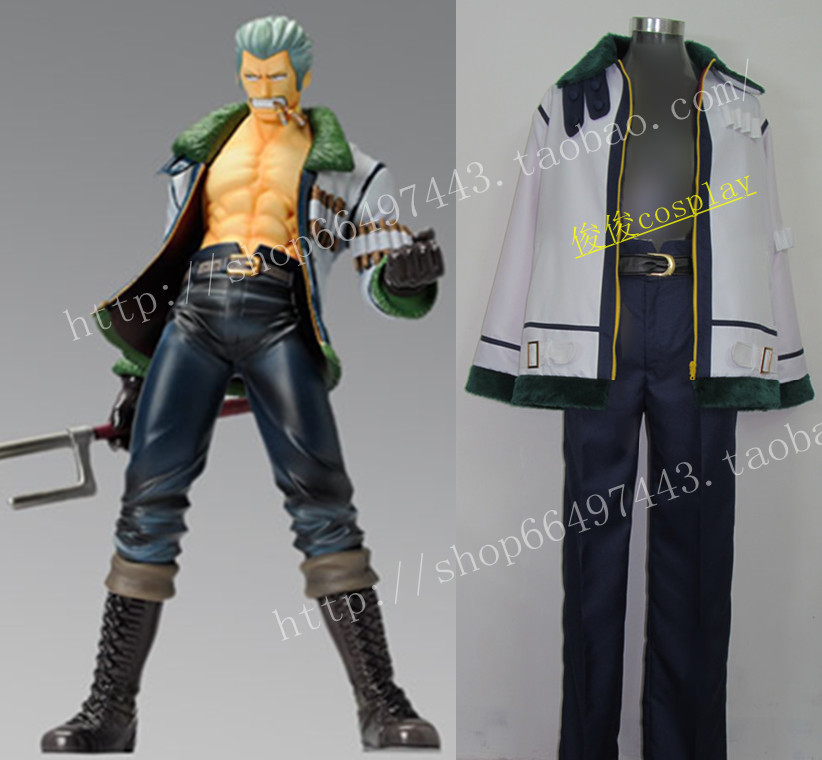 Free Shipping Cos Anime One Piece Smoker Party Uniform Cosplay Costume Customized Any Size