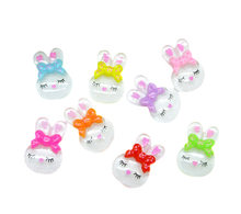 LF 50Pcs Resin Rabbit Decoration Crafts Flatback Cabochon Embellishments For Scrapbooking Kawaii Cute Diy Accessories(China)