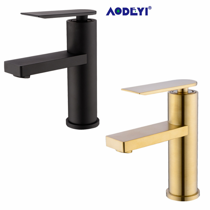 Brass Bathroom Basin Faucet Sink Mixer Tap Water Faucet Basin Mixer Faucet Chrome Black Brushed Gold