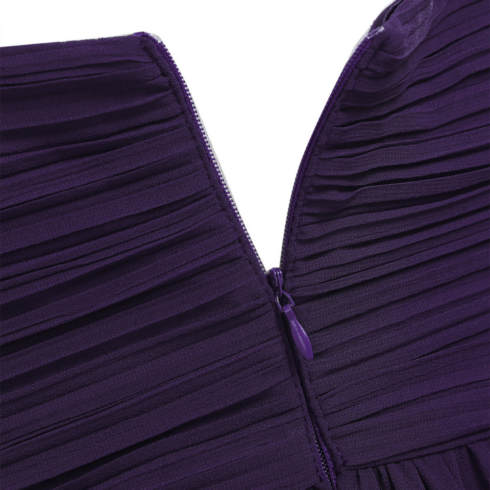 4 Color Women Ladies Chiffon Pleated Formal Dress for Birthday Party Long Evening Prom Gown 18 Summer Hot Dresses for Womens 16