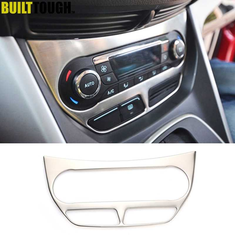 For Ford Escape Kuga 2013 2014 2015 2016 Chrome Air Con Condition Ac a/c Switch Button Panel Knob Trim Cover Molding Decoration