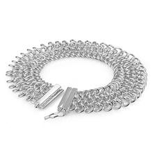 30003cd6ecf6 Moda al por mayor pulsera ancha mujeres sólido 925 18MM18cm malla trenzada  pulsera del encanto joyería