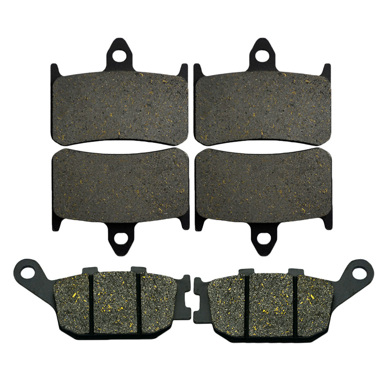 Motorcycle Front and Rear Brake Pads For HONDA VTR1000F VTR1000 F Super Hawk 1998-2005 CBR900RR Fireblade Brake Disc Pad Kit arashi 1pair cbr600f 1999 2000 cnc front brake disc brake rotors for honda cbr f 600 cbr600 f 1999 2000