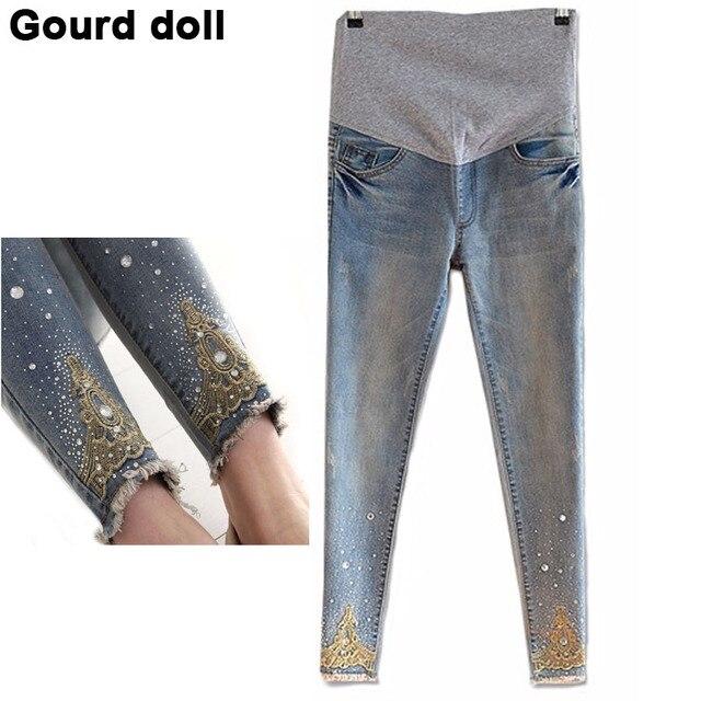 Материнство беременность джинсы лето зима джинсы беременным регулярные штаны для беременных женщин эластичный пояс джинсы беременные беременность одежда