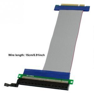 Image 1 - Cable de extensión Flexible de 15cm, tarjeta elevadora de ranura PCI Express PCI E 8X a 16X #908