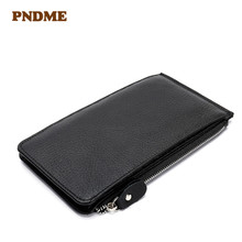цены Men's zero wallet fashion business litchi grain hand bag multi - card long wallet