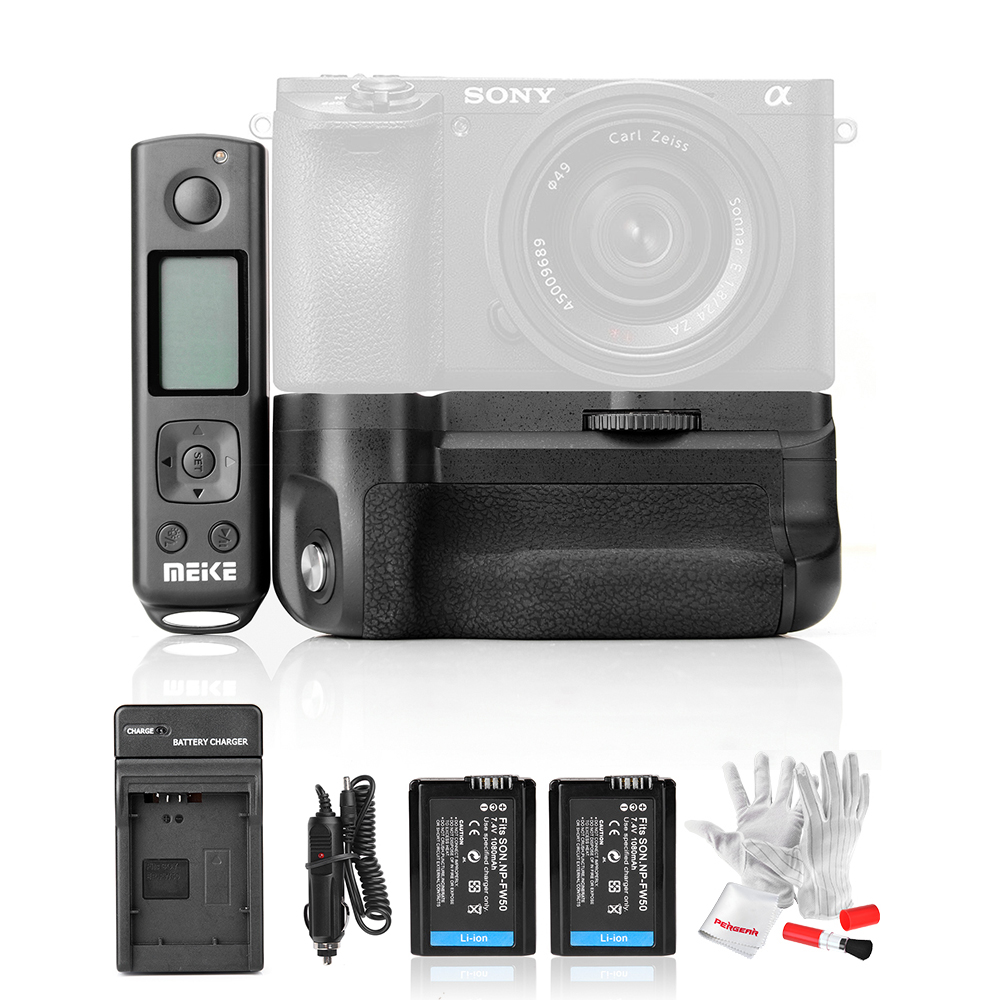 With Battery Meike MK-A6500 Pro Battery Grip Built-in 2.4Ghz Remote Controller for Sony A6500 Rremote Control Vertical-Shooting meike mk 760d pro built in 2 4g wireless control battery grip suit for canon 750d 760d as bg e18
