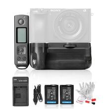 С Батареи Meike MK-A6500 Pro Аккумулятор Ручка Встроенный 2.4 ГГц Пульт дистанционного управления для Sony A6500 Rremote Управления Вертикальной Съемки