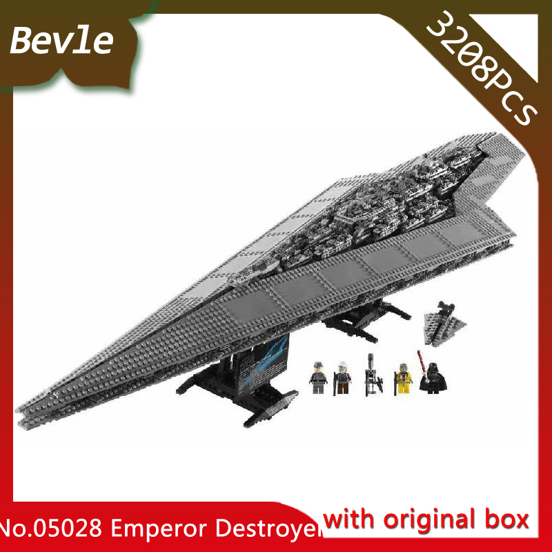 Bevle Store LEPIN 05028 3208Pcs with original box star wars Execytor Imperial Building Blocks Bricks For Children Toys 10221 lepin 05028 3208pcs star wars building blocks imperial star destroyer model action bricks toys compatible legoed 75055