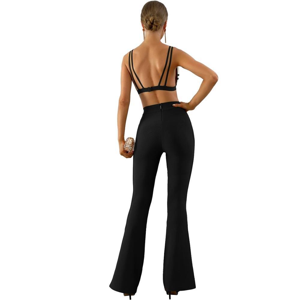 E Disponibile Pieno Flares Street Sexy Pezzi Design Due 2018 Donne Di Stile Wear Nero Verde Colore Lunghezza Delle High Pantaloni Signore PRqnOU