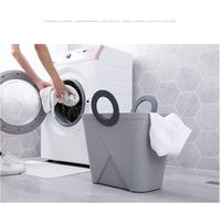 Laundry Baskets Portable hamper Dirty clothes storage basket Toy storage bucket Plastic storage basket Blue White gray