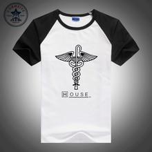 Hot selling mix colors fashion men clothes House MD Greg snake cane novelty short sleeve t shirt