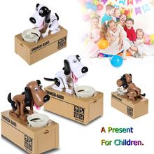 New Cartoon Dogs Pattern Stealing Coin Money Box Bank Storage Saving Box Money Banking Toy For