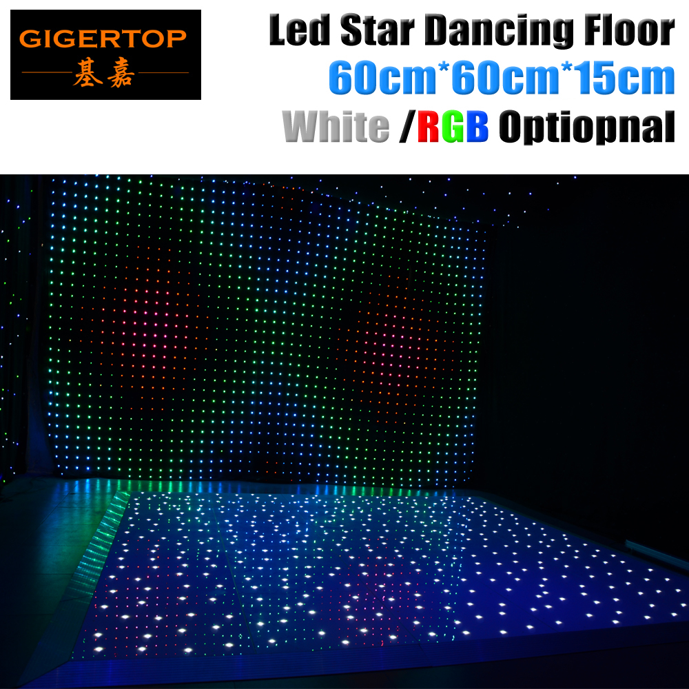 Gigertop 60cm x 60cm LED White/RGB Panel Dancing Dance Floor Remote Control Stage Light KTV Bar Party Disco DJ Club LED effect free shipping crochet fabric white color high neck padded low waist women sexy bikini swimwear kj1621