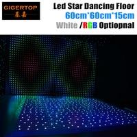 Gigertop 60cm x 60cm LED White/RGB Panel Dancing Dance Floor Remote Control Stage Light KTV Bar Party Disco DJ Club LED effect