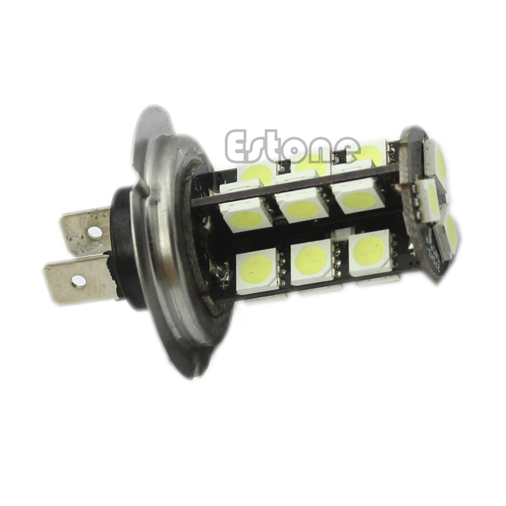 White <font><b>H7</b></font> 27-<font><b>LED</b></font> <font><b>Can</b></font> Free <font><b>Bus</b></font> Fog <font><b>LED</b></font> Headlights Round Tail Lamp image