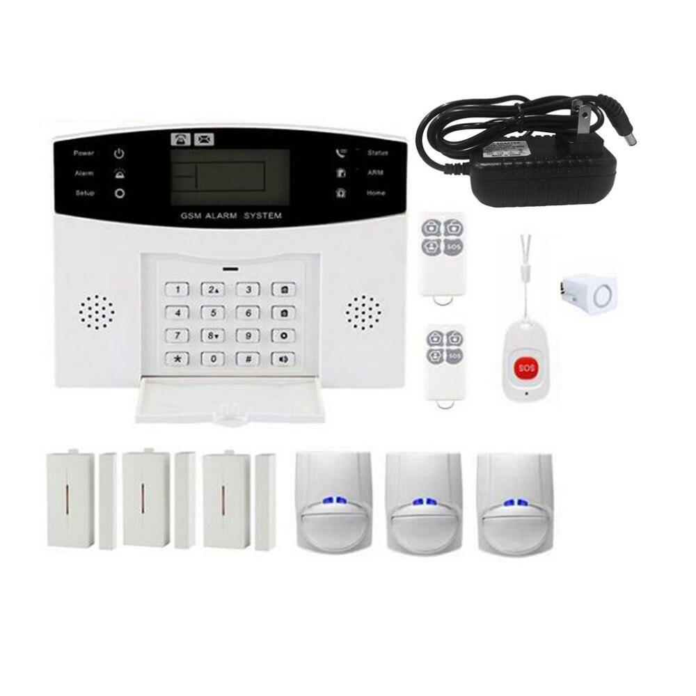 Système d'alarme anti-intrusion domestique sans fil GSM système d'alarme anti-intrusion SOS mouvement porte fenêtre capteur de sécurité automatique système d'alarme de sécurité à domicile