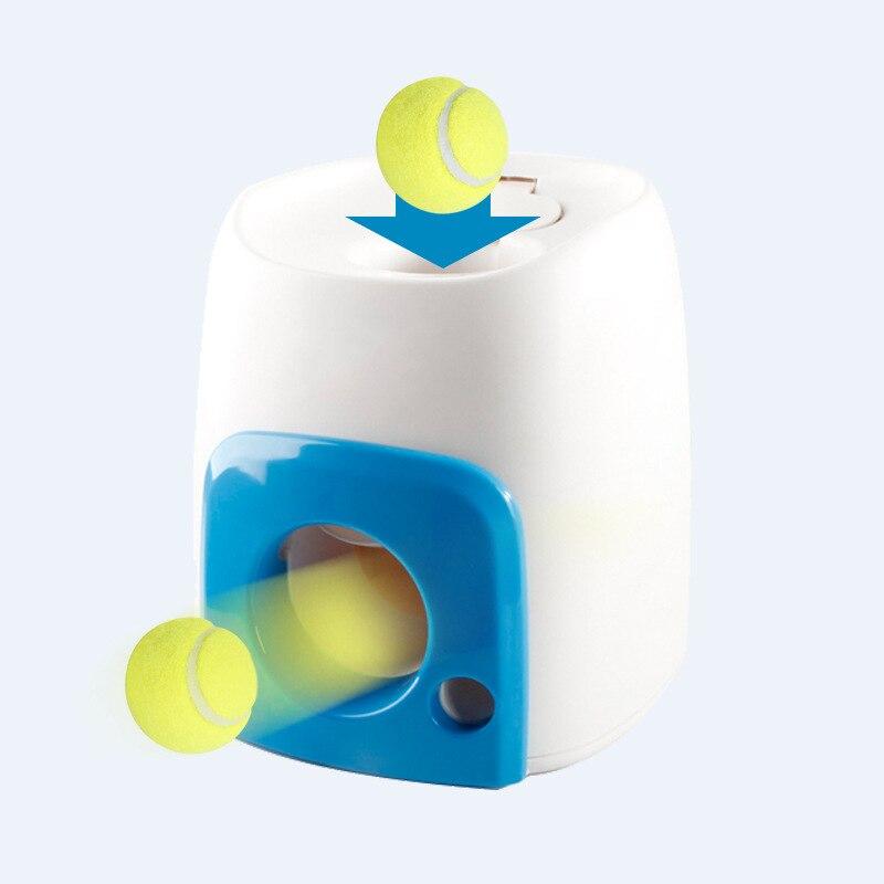 Nicrew Pet chien jouet automatique interactif balle lanceur balle de Tennis rouleaux Machine lancement aller chercher balles chien formation outil