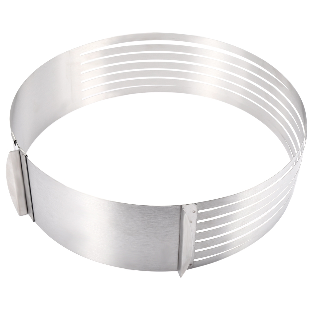 Layered Cake Slicer Cutter 12 inch Adjustable Retractable Circular Ring Cake Mould Stainless Steel Cake Tool