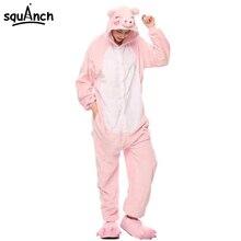 кигуруми Для женщин Onesie животных Прекрасный Свинья пижамы для взрослых  партия комбинезон подарок на день рождения зимние тепл. 1ad5e00177748