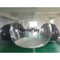 inflatable sealed air tent,inflatable marquee outdoor party tents, camping igloo tents,half clear half black air dome tent