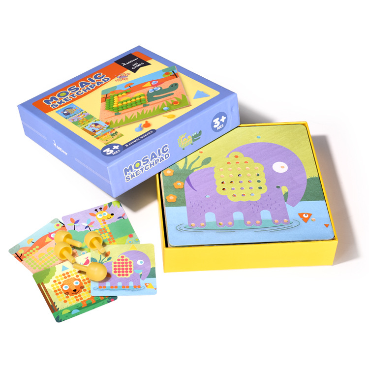 new arrive Mideer children mosaic nail mushrooms nails wooden puzzle cartoon toy desktop toys LL98 new arrive good quanlity children s toy best gift