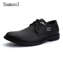 Кожаные туфли-оксфорды для мужчин Натуральная кожа на шнуровке толстый каблук круглый носок качество Мужская обувь Кожа уличная Рабочая обувь Sapatos