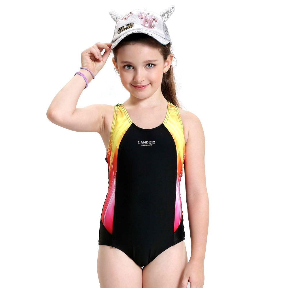 Girls Swimwear Kids One Piece Swimsuit Summer Brand Baby Girls Swimsuit  Cute Professional Swimwear For Girls Baby Beach Suit 2f2615a08992