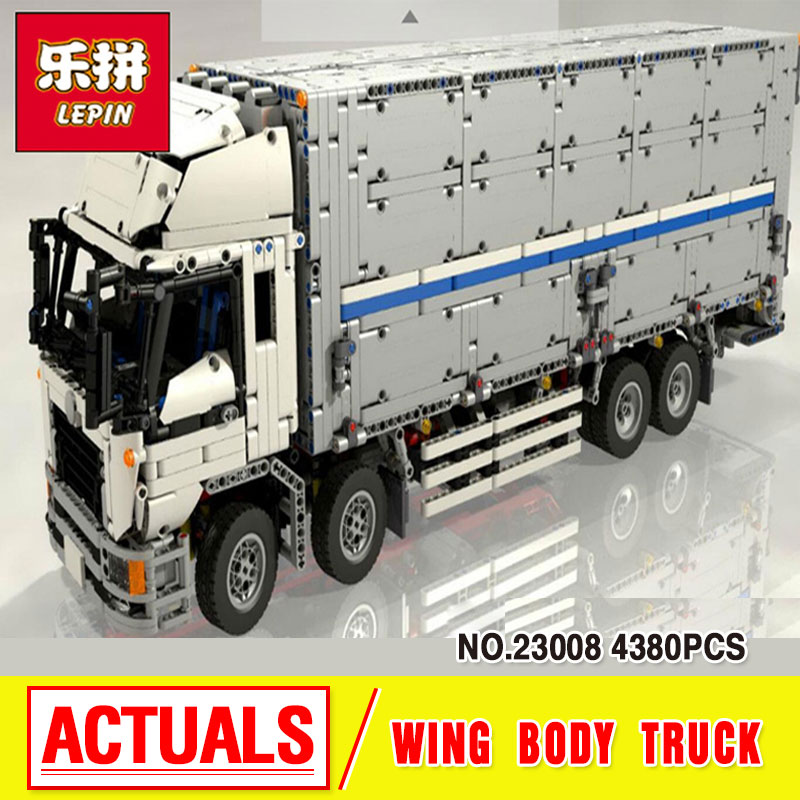 Lepin 23008 4380Pcs New Technical Series The MOC Wing Body Truck Set Educational Building Block Bricks Children Toys Gift 1389 23008 4380pcs technical series the moc wing body truck set compatible with 1389 educational building blocks children toys