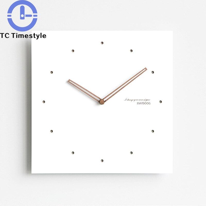 Horloge murale 12 pouces moderne Simple salon chambre décoration de la maison montre de mode nordique minimaliste créatif silencieux horloges murales