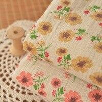 Rural Small Bubbles Double Cotton Gauze Fold Autumn Dress Skirt Scarf Fabric