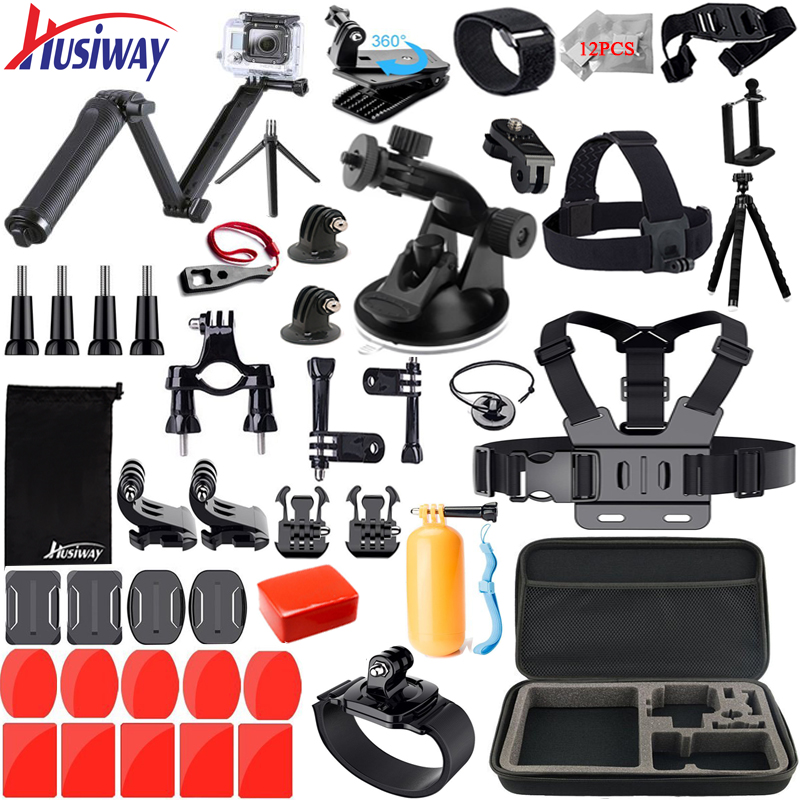 Husiway Accessories for Gopro Kit for Go pro Hero 6 5 4 3 Session Xiaomi Yi