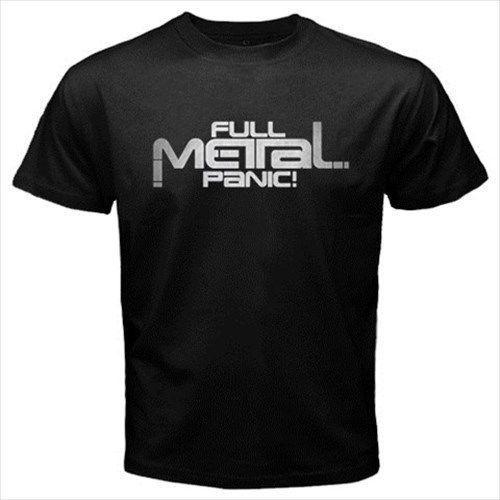 Full Metal Panic Logo Anime New Black Mens T-Shirt Clothing T Shirts Casual Brand Clothing Cotton