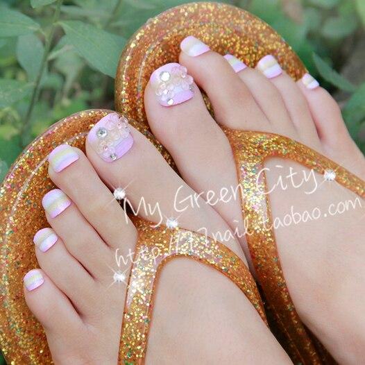 Clear Crystal False Toe Nails Tips For Saleacrylic False Nails Art