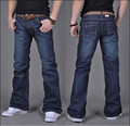 High Quality New Winter Male Casual Business Flare Jeans Men's Loose Mid high quality Boot Cut Pants