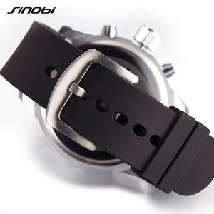 Image 4 - Mens Watches Top Luxury Brand Men Rubber Sports Watches Fast Passion SINOBI Mens Quartz Chronograph Clock  Military Wrist Watch