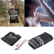 40L/10 Gallon Solar Energy Heated Camp Shower Bag PVC Water Bag Outdoor Camping Travel Hiking Climbing BBQ Picnic Water Storage