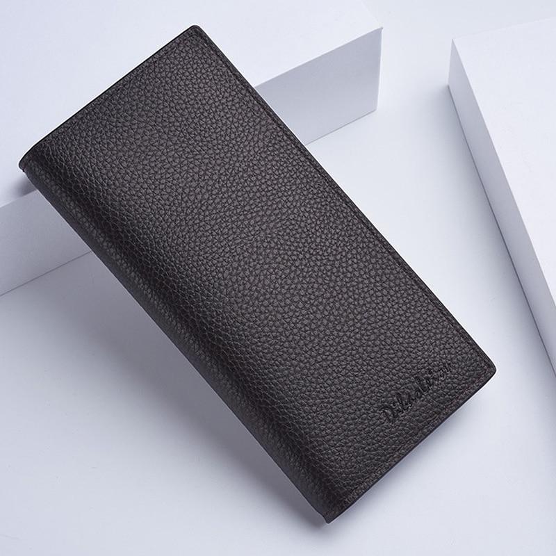 Baellerry Men's Wallet Classic Long Card Bag Men's Wallet Quality Zipper Large Capacity Big Brand Luxury Wallet Men