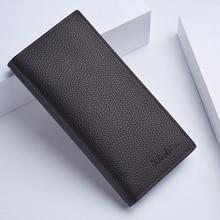 Baellerry mens wallet classic long card bag quality zipper large capacity big brand luxury men