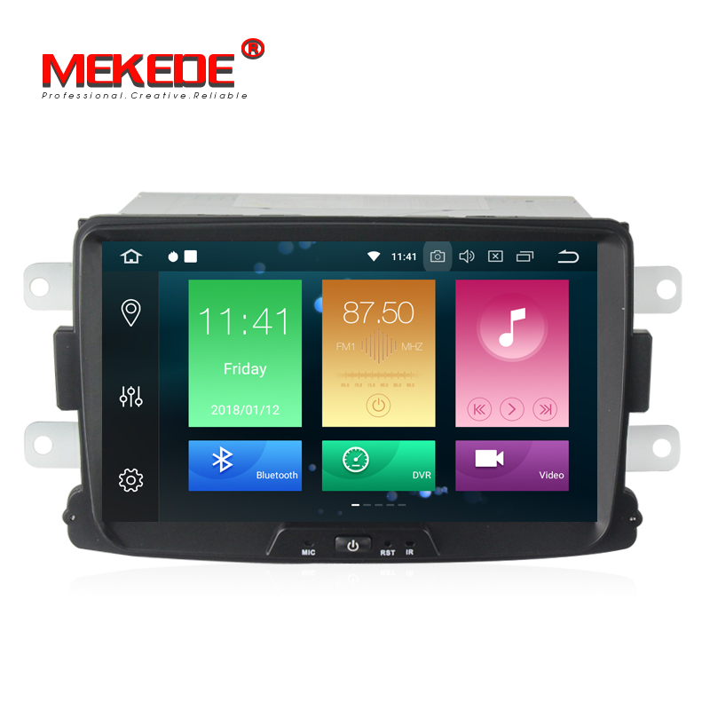 Android 8 0 Car stereo head unit navigation GPS NAVI DVD player for Renault Duster Logan