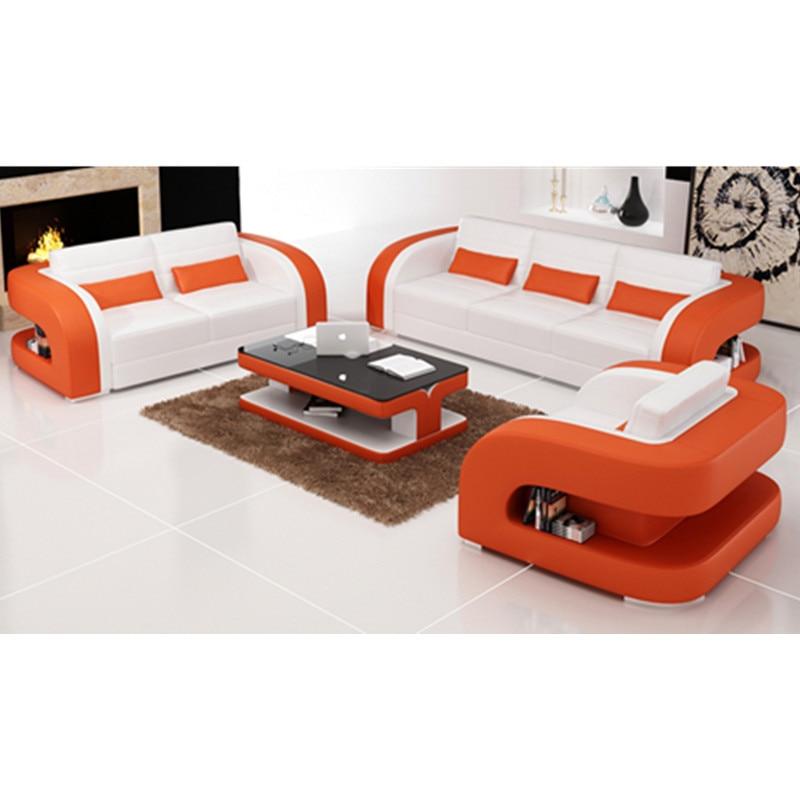 US $1368.0 |Orange und weiß moderne wohnzimmer sofa sets-in Wohnzimmersofas  aus Möbel bei AliExpress