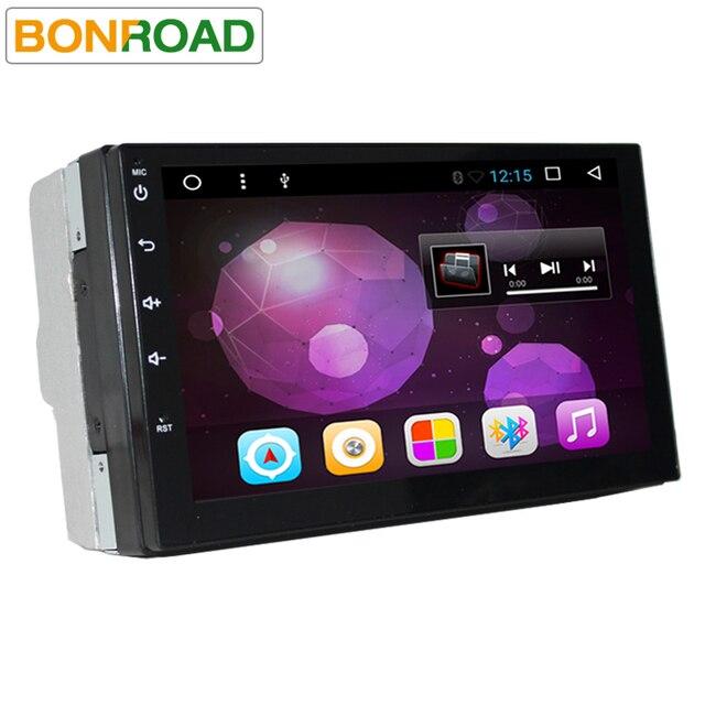 """Android 6.01 7 """"2Din Универсальный мультимедийный плеер 4 ядра Автомобильный DVD центры USB SD Wi-Fi аудио Радио BT GPS Navi видео плеер"""