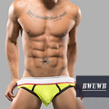 Net Yarn Pounch Pocket Sexy Summer Men Briefs Underwear Male Calzoncillos Mesh Breathable Translucent Yellow Cueca Home Clothes